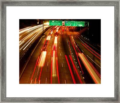 101 At Night Framed Print by Matt Harang