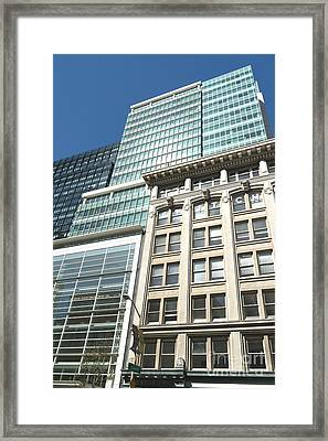 101 Second Street Office Building And The Vintage Rapp Building In San Francisco California Dsc1206  Framed Print