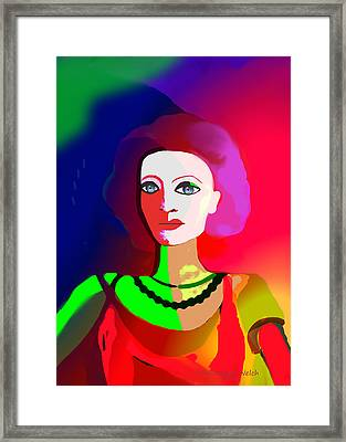 1012 - Lady Colourful  Touch Framed Print by Irmgard Schoendorf Welch