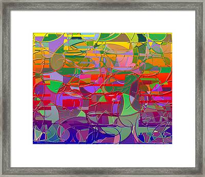 1021 Abstract Thought Framed Print