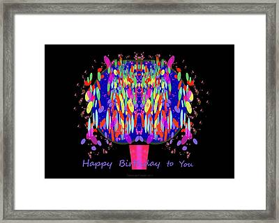 1038 - Happy Birthday  To You Framed Print by Irmgard Schoendorf Welch