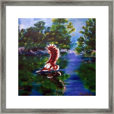 1044426 Digital Eagle Framed Print