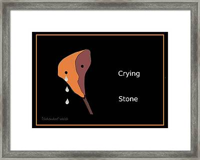 1048 - Crying  Stone Framed Print by Irmgard Schoendorf Welch
