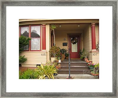 105 And 107 Framed Print