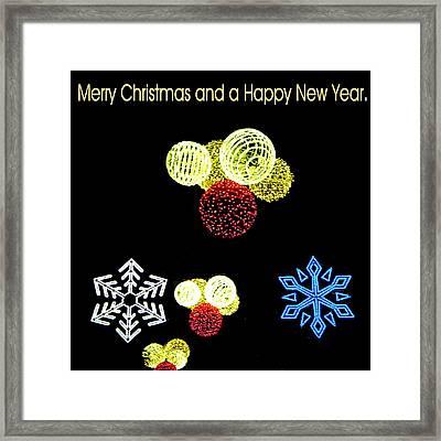 105 - Malaga Christmas Lights  Framed Print by Patrick King