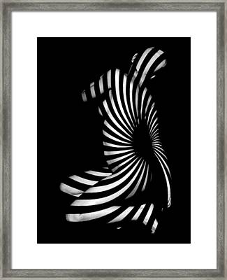 1055  Experimental Abstract Nude Art Framed Print by Chris Maher
