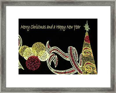 106 - Malaga Christmas Lights   Framed Print by Patrick King