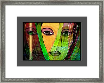 1086 - A Lady Framed Print by Irmgard Schoendorf Welch