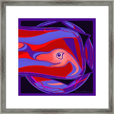 1099 - Little Monster Fish Fractal Framed Print by Irmgard Schoendorf Welch
