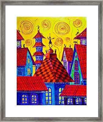 1099 Magic Town 4 - Gilded Framed Print