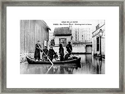 10th Century Flooded Paris Street Framed Print by Collection Abecasis