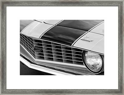 1969 Chevrolet Camaro Z 28 Grille Emblem Framed Print by Jill Reger