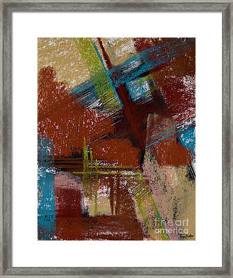 On The Diagonal Framed Print by Tracy L Teeter