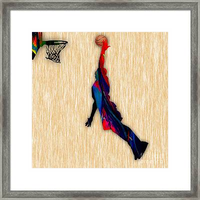 Basketball Framed Print by Marvin Blaine