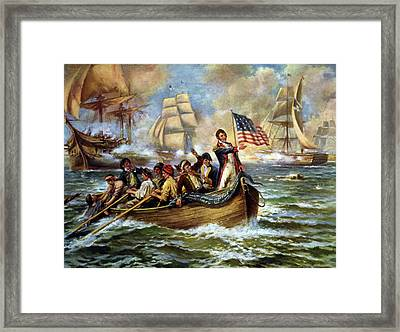 Battle Of Lake Erie, 1813 Framed Print