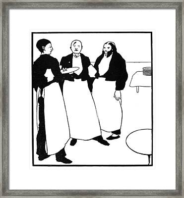Beardsley Yellow Book Framed Print by Granger