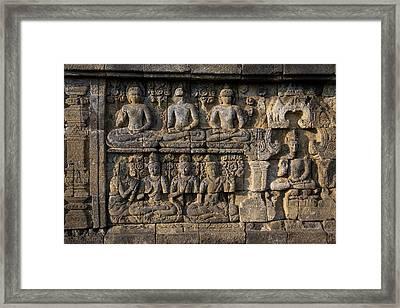 Borobudur, Java, Indonesia Framed Print