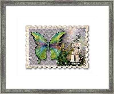 11 Cent Butterfly Stamp Framed Print by Amy Kirkpatrick