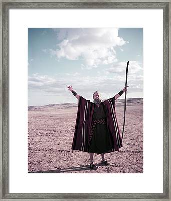 Charlton Heston In The Ten Commandments  Framed Print