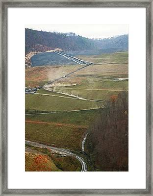 Coal Sludge Dam Framed Print by Jim West