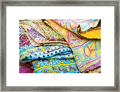 Colorful Cloth Framed Print