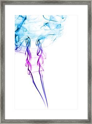 Colourful Smoke Framed Print