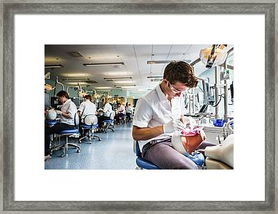 Dentistry Training Framed Print