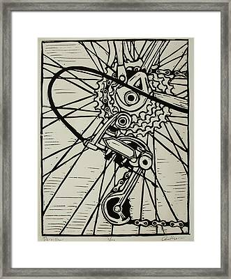 Derailluer Framed Print by William Cauthern