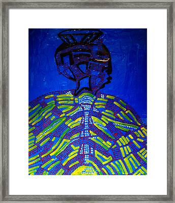 Dinka Bride - South Sudan Framed Print