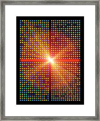 Dna Microarray Framed Print