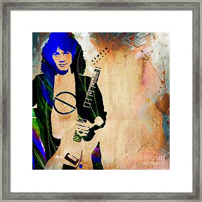 Eddie Van Halen Collection Framed Print
