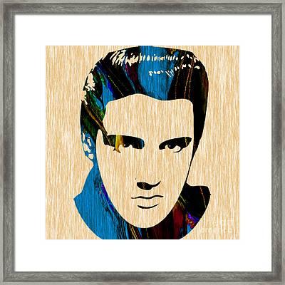 Elvis Presley Framed Print by Marvin Blaine