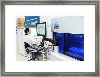 Genetic Analysis Framed Print by Arno Massee