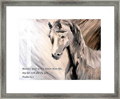 God Is Love Framed Print by Amanda Dinan