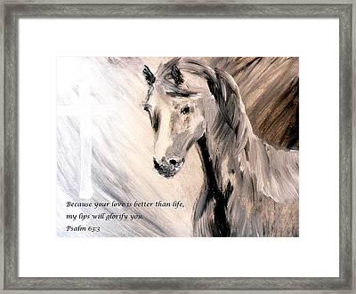 God Is Love Framed Print by Amanda Dinan