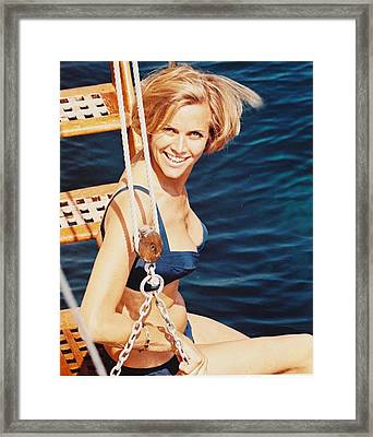 Honor Blackman Framed Print by Silver Screen