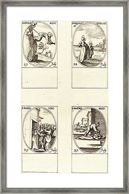 Jacques Callot, French 1592-1635 Framed Print