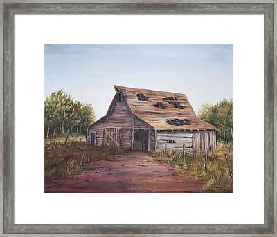 Rusty Roof Framed Print