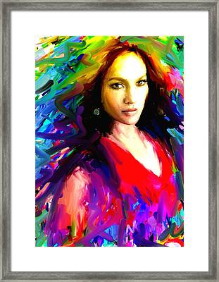 Jennifer Lopez Framed Print