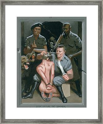 11. Jesus Before The Soldiers / From The Passion Of Christ - A Gay Vision Framed Print by Douglas Blanchard