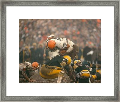 Jim Brown Framed Print