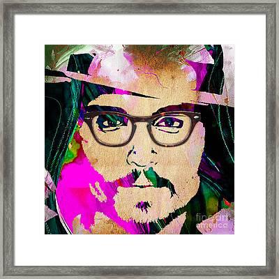 Johnny Depp Collection Framed Print by Marvin Blaine