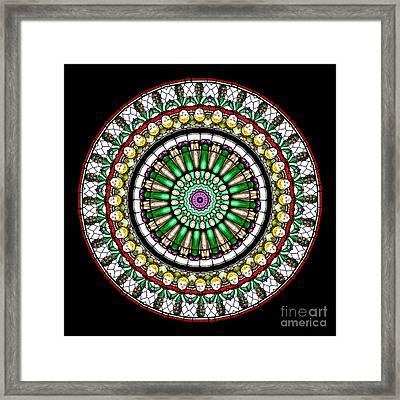 Kaleidoscope Stained Glass Window Series Framed Print