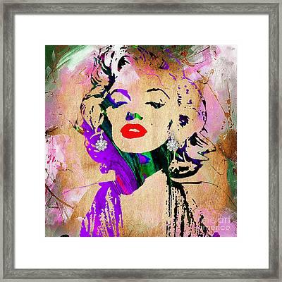 Marilyn Monroe Diamond Earring Collection Framed Print