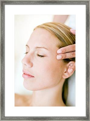 Massage Framed Print by Ian Hooton/science Photo Library