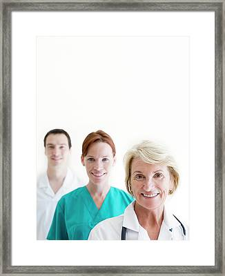 Medical Staff Framed Print by Ian Hooton/science Photo Library