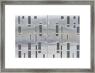 Metal Background Framed Print by Tom Gowanlock