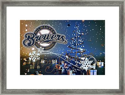Milwaukee Brewers Framed Print by Joe Hamilton