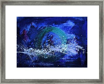 Framed Print featuring the painting White Splash by Tracey Myers