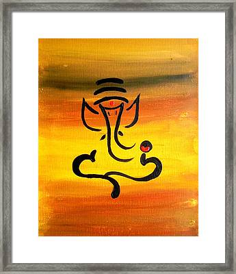 11 Nandana- Son Of Lord Shiva Framed Print by Kruti Shah